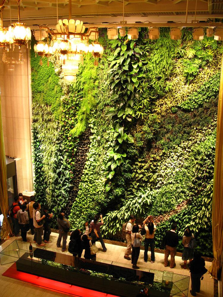 Green symphony taipeh concert hall vertical garden patrick blanc - Vertical garden ...