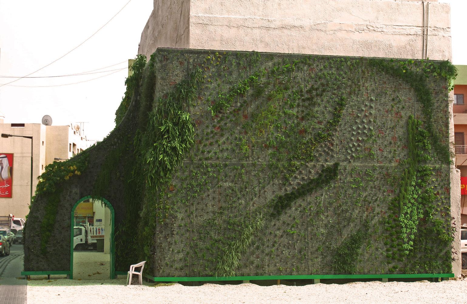 Muharraq, Bahrain, Green Gate | Vertical Garden Patrick Blanc