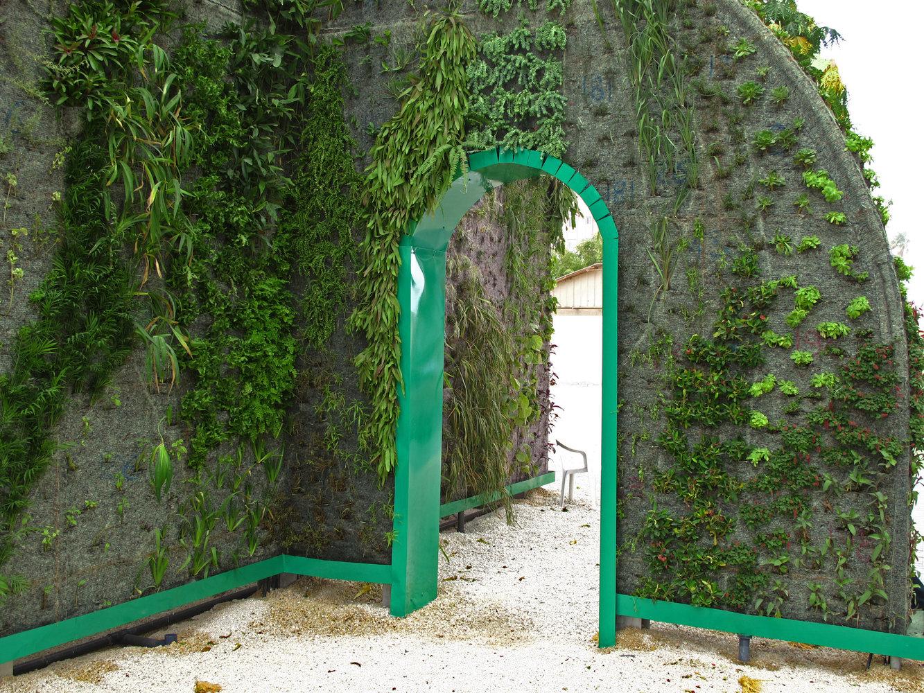 Muharraq Bahrain Green Gate Vertical Garden Patrick Blanc