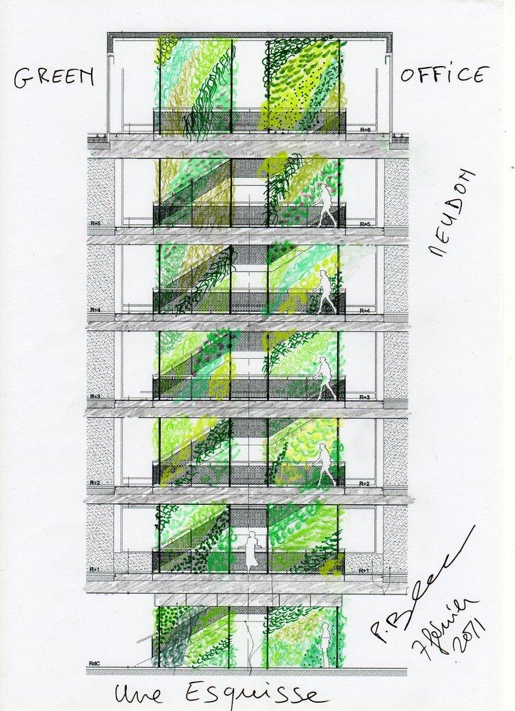 Green Office Meudon Vertical Garden Patrick Blanc