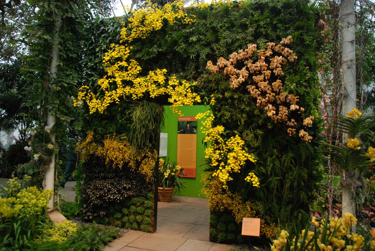 New York Botanical Garden Orchid Expo 2012 Vertical Garden Patrick Blanc