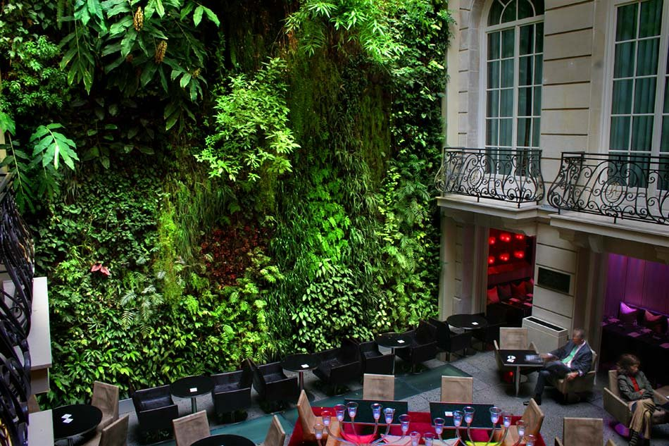 pershing hall hotel paris vertical garden patrick blanc. Black Bedroom Furniture Sets. Home Design Ideas
