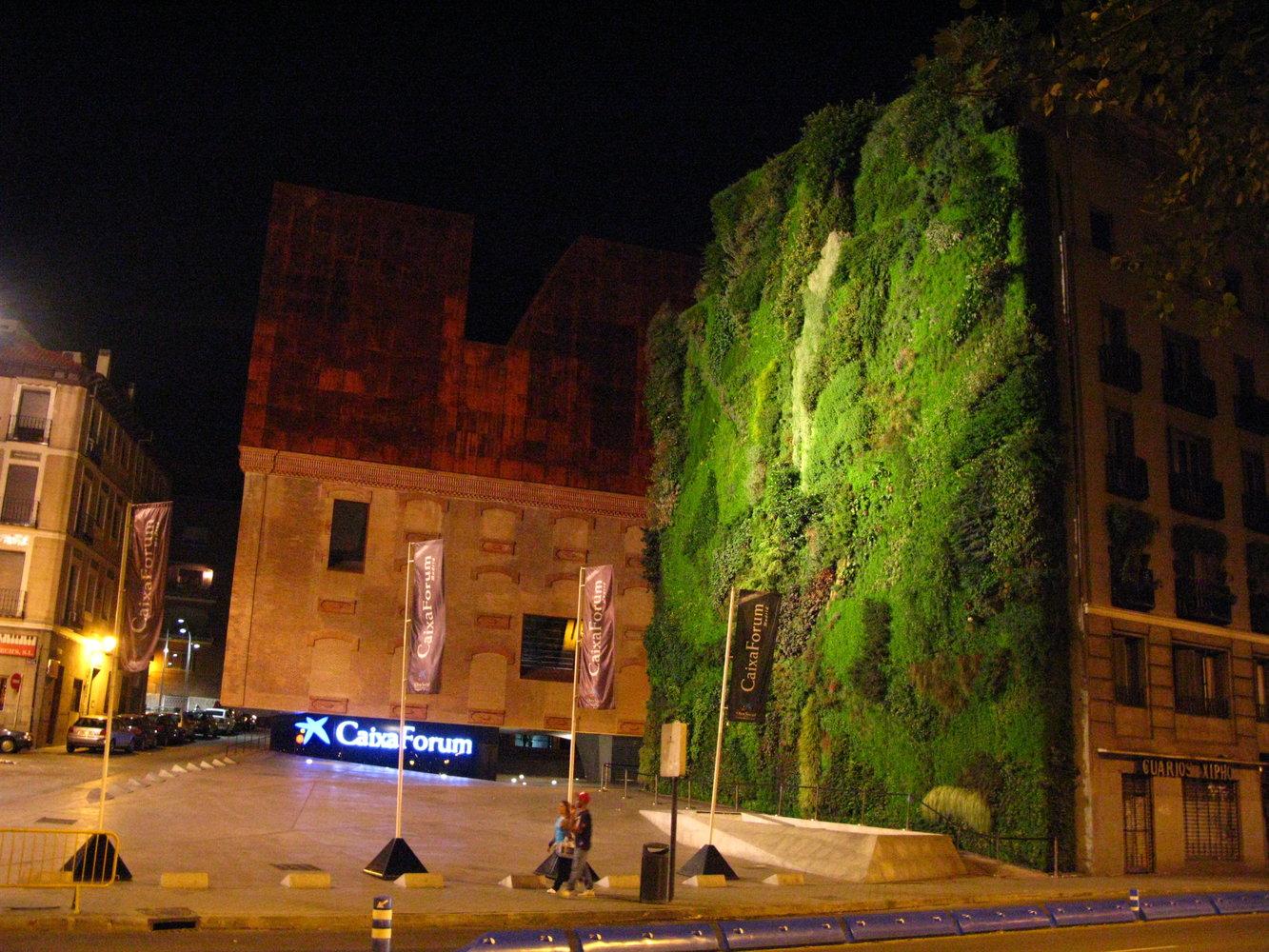 Caixa Forum Madrid, At Night, Sept. 2008
