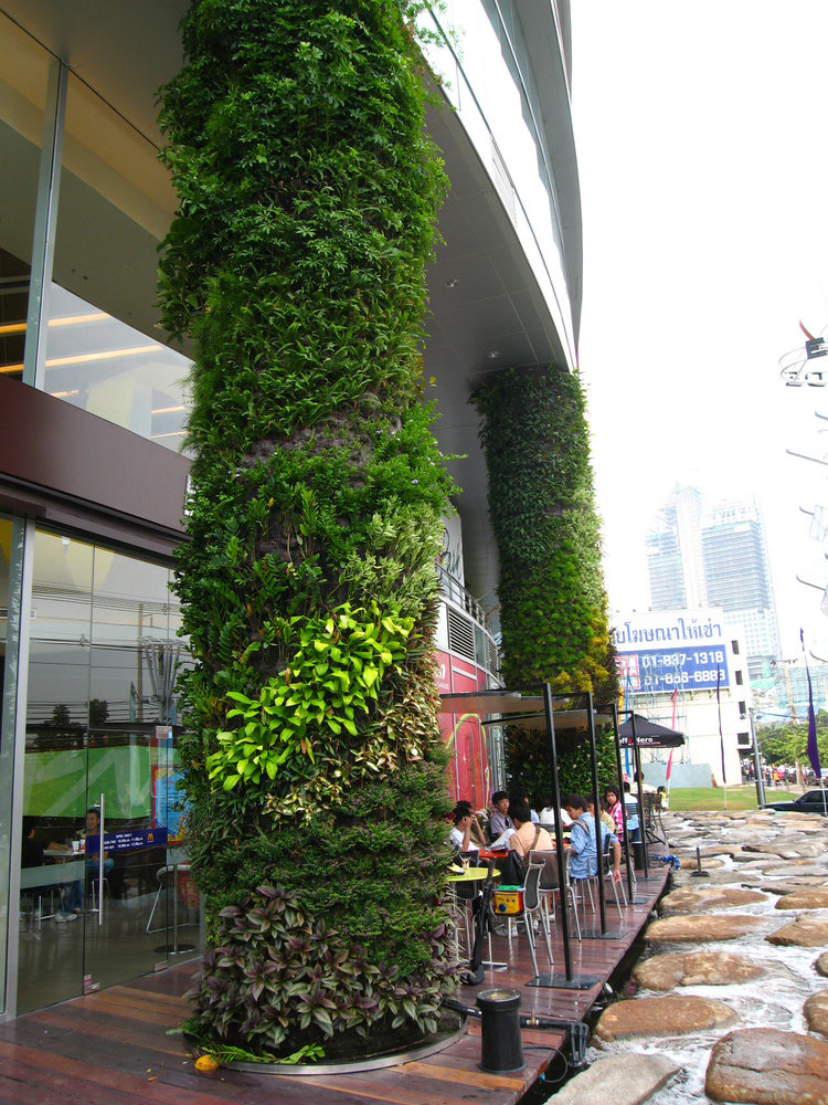 Esplanade shopping mall vertical garden patrick blanc