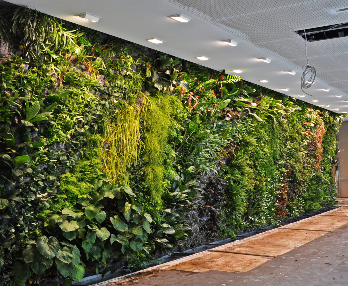 Fronius headquarters wels austria vertical garden for Indoor garden design