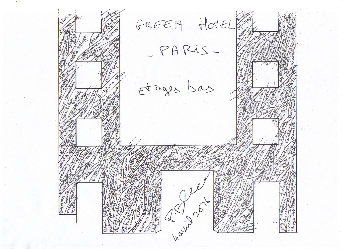 Green Hotels Paris Vertical Garden Patrick Blanc