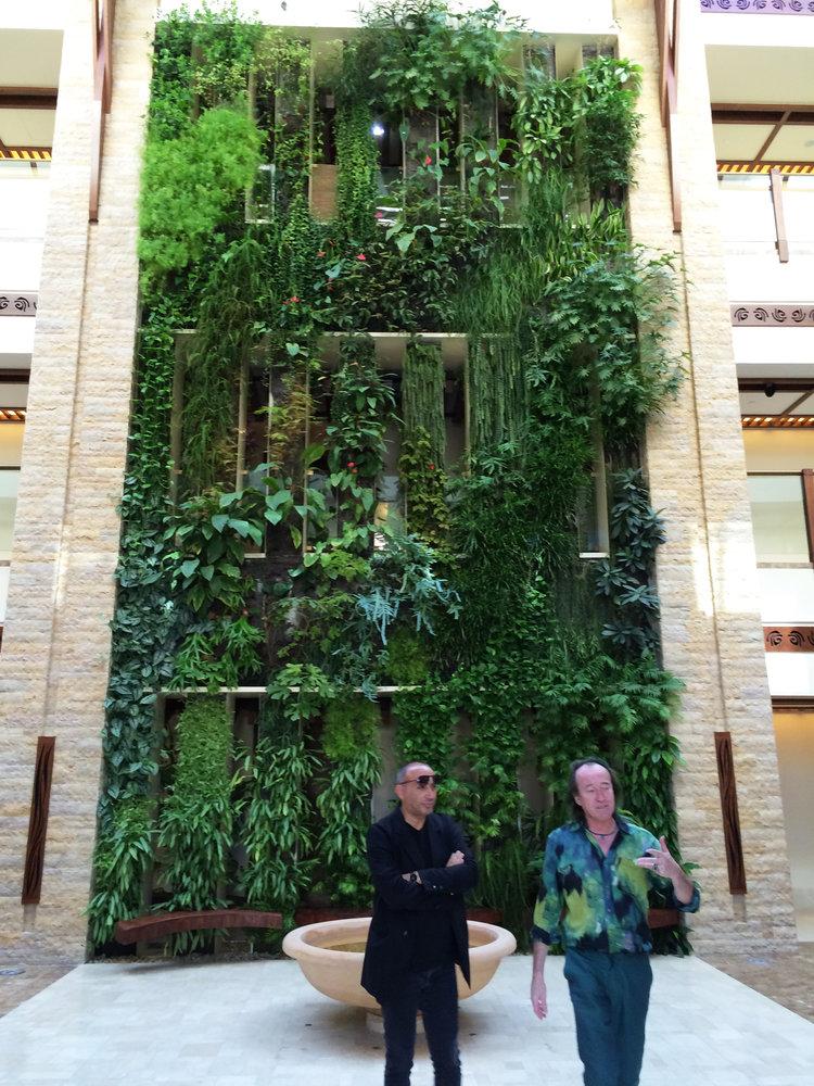 Sofitel palm jumeirah dubai mur vegetal patrick blanc - Patrick blanc mur vegetal ...