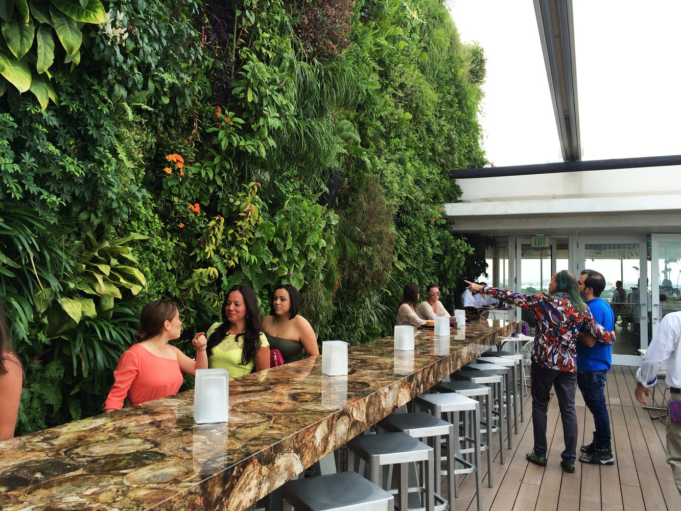 Juvia Restaurant, Miami   Vertical Garden Patrick Blanc