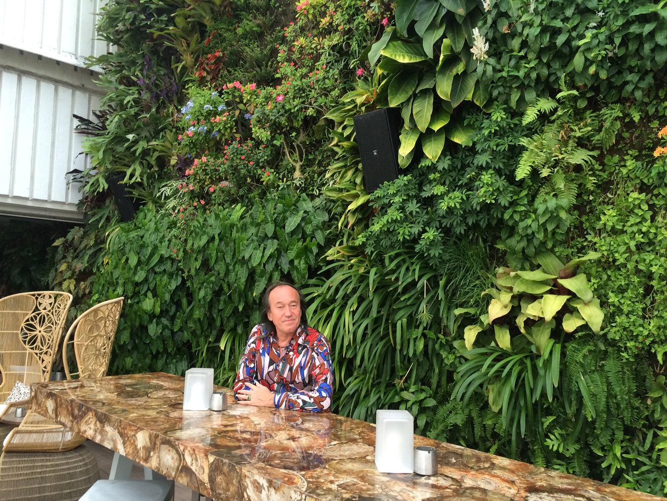 Juvia Restaurant Mur Vegetal Patrick Blanc