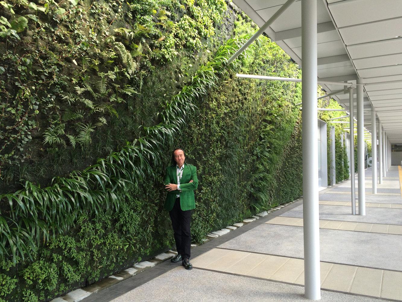 Shin Yamaguchi Station Vertical Garden Patrick Blanc