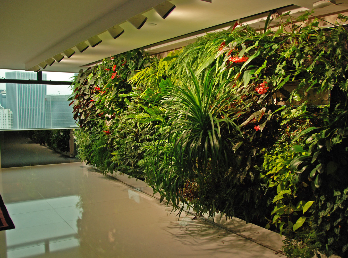 Ronald lu office vertical garden patrick blanc for Garden office design